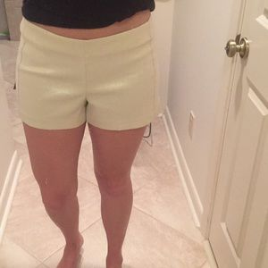 Lilly Pulitzer gold shorts